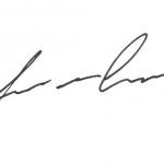 Zu sehen ist die schwarze Unterschrift von Thomas Semmelmann auf weißem Hintergrund