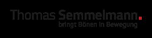 """Das Logo von Thomas Semmelmann ist ein Wortschriftzug, der """"Thomas Semmelmann bringt Bönen in Bewegung"""" lautet"""