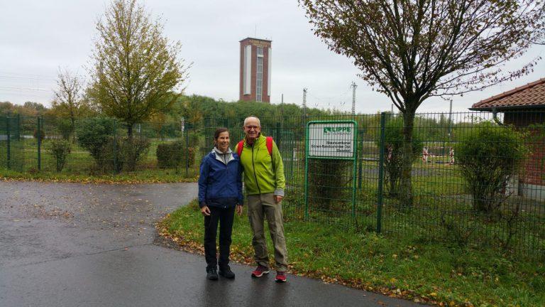 Einblicke in die Wanderung mit meiner Frau in Bönen und dem Förderturm im Hintergrund